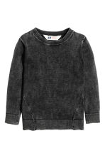 Jumper with a washed look - Black washed out -  | H&M 2