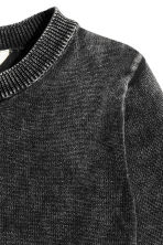 Jumper with a washed look - Black washed out -  | H&M 3