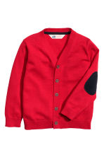 Fine-knit cardigan - Red - Kids | H&M CN 2