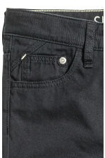 Twill trousers Slim fit - Black -  | H&M 6
