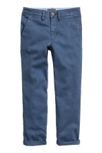 Slim fit Chinos - Blue -  | H&M 2