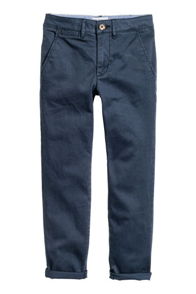Slim fit Chinos - Dark blue -  | H&M