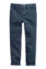 Slim fit Chinos - Dark blue -  | H&M CN 1