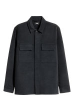Shirt jacket - Black - Men | H&M 2
