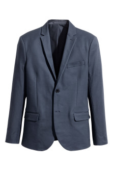 Blazer en coton Slim fit