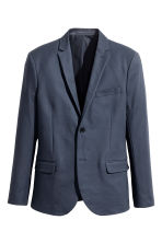 Katoenen blazer - Slim fit - Donkerblauw - HEREN | H&M BE 2