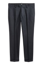 Cropped suit trousers - Black - Men | H&M 2