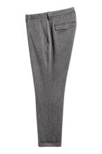 Cropped suit trousers - Grey marl - Men | H&M CN 3