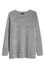 Textured jumper - Grey marl - Men | H&M 2