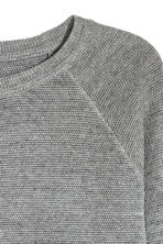 Textured jumper - Grey marl - Men | H&M 3