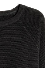 Textured jumper - Black - Men | H&M 3
