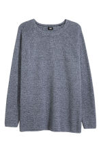 Textured jumper - Dark blue marl - Men | H&M 2