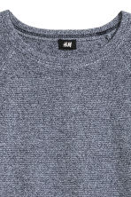 Textured jumper - 混深蓝色 - Men | H&M CN 3