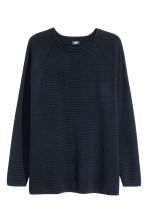 Textured jumper - Dark blue - Men | H&M CN 2