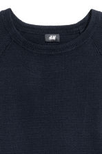 Textured jumper - Dark blue - Men | H&M CN 3