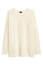 Textured jumper - Natural white - Men | H&M CA 2
