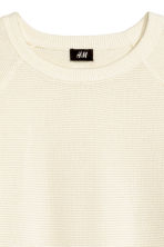 Textured jumper - Natural white - Men | H&M 3
