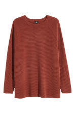 Textured jumper - Rust red - Men | H&M CN 2
