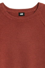 Textured jumper - Rust red - Men | H&M CN 3