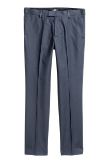 Cotton suit trousers Slim fit