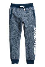 Printed joggers - Dark blue marl - Kids | H&M 2
