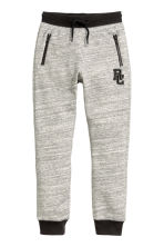 Printed joggers - Light grey marl -  | H&M CN 2