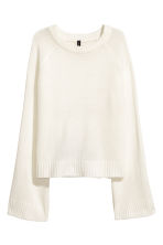 Knitted jumper - White - Ladies | H&M 2
