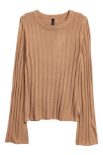 Rib-knit jumper - Beige - Ladies | H&M 2
