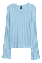 Rib-knit jumper - Light blue - Ladies | H&M CN 2