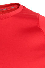 Long-sleeved running top - Red - Men | H&M 4