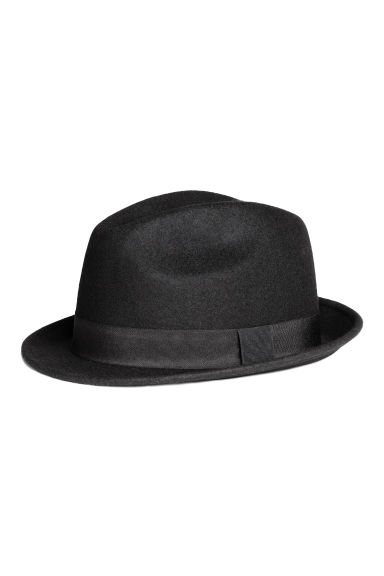 Wool hat - Black - Men | H&M CN 1