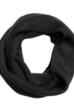 Rib-knit tube scarf - Black - Men | H&M 2