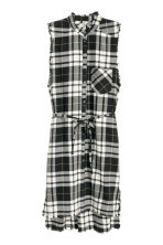 Sleeveless shirt dress - Black/White/Checked - Ladies | H&M 2