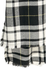 Sleeveless shirt dress - Black/White/Checked - Ladies | H&M 3