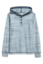 Jersey hooded top - Blue marl - Kids | H&M 2