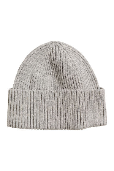 Ribbed hat - Grey marl - Men | H&M 1