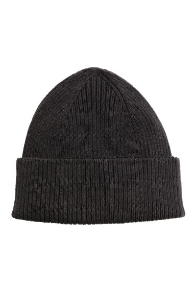 Ribbed hat - Black - Men | H&M 1
