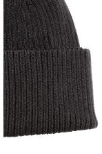 Ribbed hat - Black - Men | H&M 2