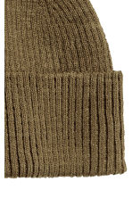 Rib-knit hat - Khaki green - Men | H&M CN 2