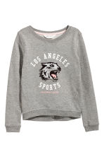 Printed sweatshirt - Grey/Los Angeles -  | H&M 2