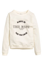 Printed sweatshirt - Natural white -  | H&M 2