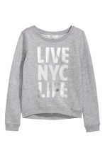 Printed sweatshirt - Grey/New York - Kids | H&M 2