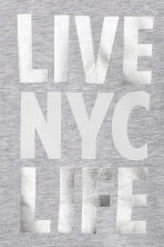 Printed sweatshirt - Grey/New York - Kids | H&M 3