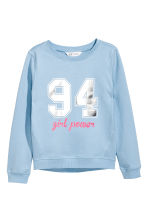 Printed sweatshirt - Light blue - Kids | H&M 2