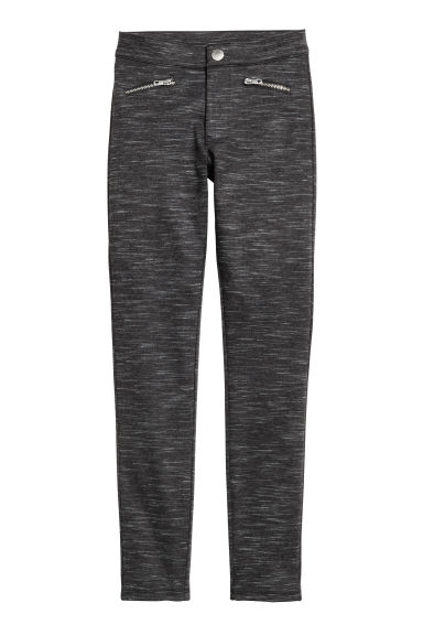 Treggings - Black marl - Kids | H&M
