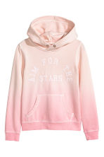 Hooded top with a text motif - Light pink -  | H&M 2