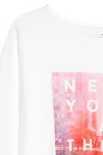 Long-sleeved top - White/New York -  | H&M 3