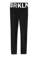Leggings - Black/Brooklyn -  | H&M CN 2