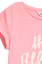 Printed jersey top - Pink - Kids | H&M CN 3