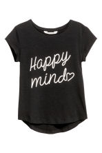 Printed jersey top - Black - Kids | H&M CN 2
